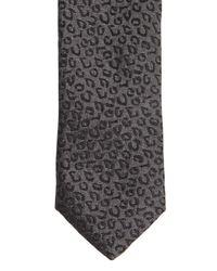 Saint Laurent | Black 4Cm Leopard Printed Silk Tie for Men | Lyst