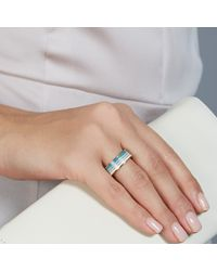 Astley Clarke Blue Good Vibrations Wave Ring