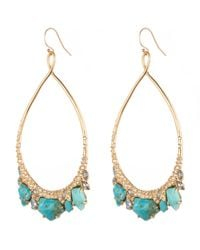 Alexis Bittar - Blue Jagged Diamond Oval Drop Earring You Might Also Like - Lyst