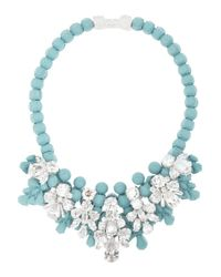EK Thongprasert | Blue Silverplated Silicone and Cubic Zirconia Necklace | Lyst