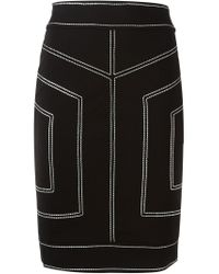 Love Moschino - Black Stitch Detailing Pencil Skirt - Lyst