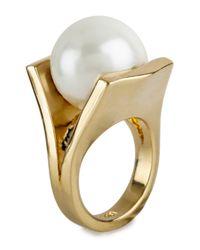 Lele Sadoughi | Metallic Pearl Pinball Ring | Lyst
