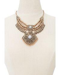Forever 21 - Metallic Medallion Bib Necklace - Lyst