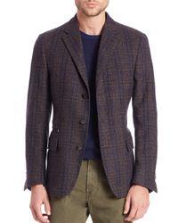 Corneliani - Brown Multicheck Id Jacket for Men - Lyst