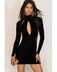 Oh My Love | Great Pretender Velvet Cutout Dress - Black | Lyst