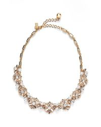 kate spade new york | Metallic 'cocktails & Conversation' Frontal Necklace - Neutral Multi | Lyst
