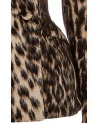 Martin Grant - Multicolor Leopard Fitted Peacoat - Lyst