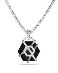 David Yurman - Metallic Cable Wrap Pendant With Black Onyx And Diamonds - Lyst
