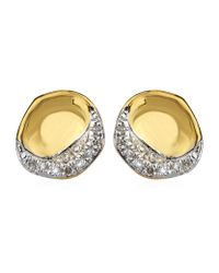 Monica Vinader | Metallic Riva Diamond Shore Stud Earrings | Lyst