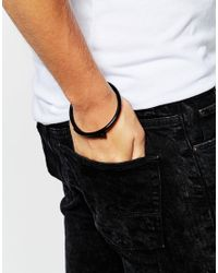 ASOS | Nail Wrap Bracelet In Black for Men | Lyst