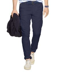 Polo Ralph Lauren | Blue Slim-fit Stretch Cargo Pants for Men | Lyst