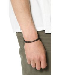 Cause and Effect - Black Painted Copper Cuff for Men - Lyst