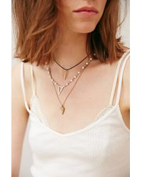 Urban Outfitters | Metallic Triple Delicate Necklace | Lyst