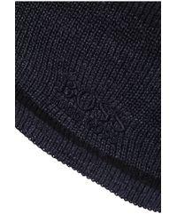 BOSS Green | Black 'beanie_fleece' | Wool Blend Beanie for Men | Lyst