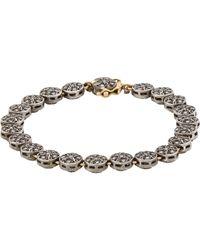 Munnu   Metallic Single Line Bracelet   Lyst