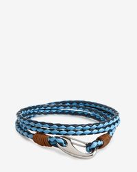 Ted Baker | Blue Woven Leather Bracelet for Men | Lyst