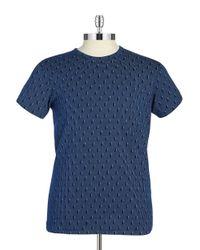 Ben Sherman | Blue Geo Print Tee for Men | Lyst