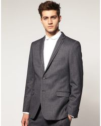 Lambretta | Gray Fashion Fit Tipped Lapel Jacket for Men | Lyst
