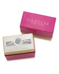 Carolee - Word Play Something Blue Glitz And Silvertone Bangle Bracelet - Lyst