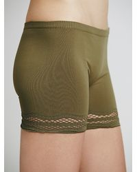 Free People - Green Intimately Womens Olivia Bike Short - Lyst