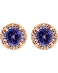 Irene Neuwirth - Purple Women's Gemstone Stud Earrings - Lyst