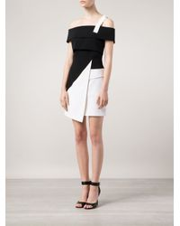 Mugler | Black Off-Shoulder Asymmetric Dress | Lyst