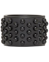 Alexander McQueen | Black Liliputs Ring for Men | Lyst