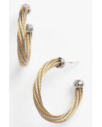 Alor - Metallic Hoop Earrings - Lyst