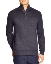 BOSS - Gray Edem Button Neck Sweater - Bloomingdale's Exclusive for Men - Lyst