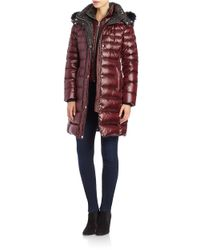Andrew Marc | Red Fox Fur-trimmed Puffer Coat | Lyst