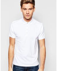 Selected elected homme pique polo shirt with snap buttons for Mens shirts with snaps instead of buttons