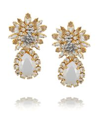 Shourouk - Metallic Comet Gold-Plated, Swarovski Crystal And Sequin Clip Earrings - Lyst