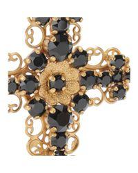 Dolce & Gabbana - Metallic Crystalembellished Cross Clipon Earrings - Lyst
