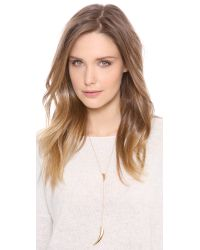 Jennifer Zeuner - Metallic Double Horn Lariat Necklace - Lyst