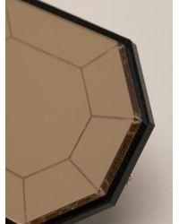 Yazbukey   Metallic Diamond Brooch   Lyst