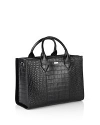 HUGO | Black Leather Handbag: 'valerie-c' | Lyst