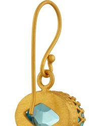 Kevia - Blue Goldplated Topaz Drop Earrings - Lyst