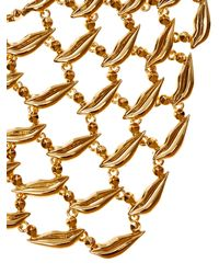 Diane von Furstenberg - Metallic Gold-plated Lips Necklace - Lyst