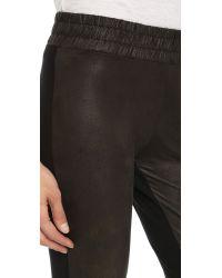 Monrow | Black Half & Half Leggings | Lyst