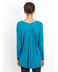 Vince - Blue Double V-neck Long Sleeve Tee - Lyst