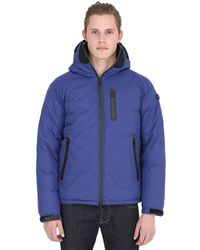Ai Riders On The Storm | Blue Zip Up Nylon Micro Ripstop Down Jacket for Men | Lyst