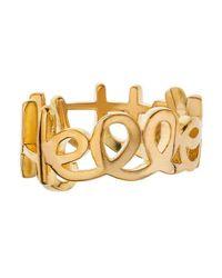 Noir Jewelry - Metallic Hello Kitty Logo Ring - Lyst