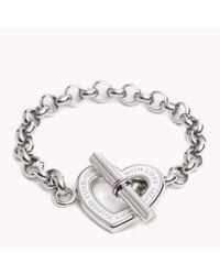 Tommy Hilfiger | White Heart Bracelet | Lyst