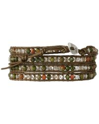 Chan Luu - Multicolor 32' Chinese Unakite Crystal Wrap Bracelet - Lyst