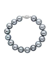 Lord & Taylor | White Grey Pearl Bracelet In Sterling Silver 8 Inch 11mm | Lyst