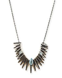 Alexis Bittar Fine | Midnight Quartz Kites & Black Spinel Necklace | Lyst