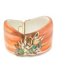 Alexis Bittar | Orange Desert Jasmine Asymmetrical Hinged Bracelet You Might Also Like | Lyst
