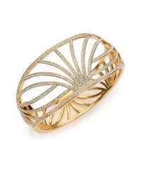 Adriana Orsini - Metallic Elevate Pavé Crystal Wide Bangle Bracelet - Lyst