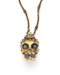 Alexander McQueen | Metallic Victorian Skull Pendant Necklace for Men | Lyst