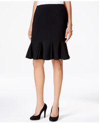 Nine West | Black A-line Flounce Skirt | Lyst